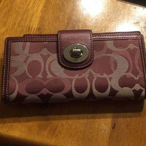 Maroon coach wallet